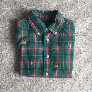 🐶 Ralph Lauren Puppy Plaid Shirt, Size 4T